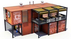 Магазин, кафе из морских грузовых контейнеров